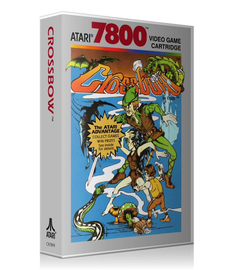 Atari 7800 Crossbow Game Cover To Fit A UGC Style Replacement Game Case