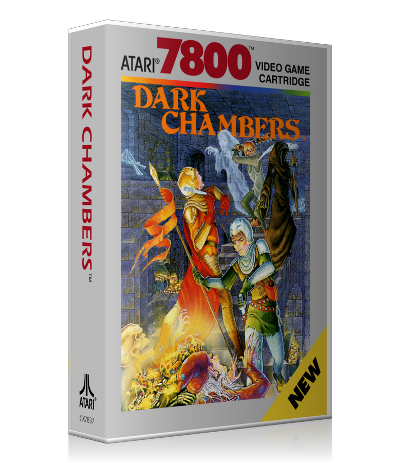 Atari 7800 Dark Chambers Game Cover To Fit A UGC Style Replacement Game Case