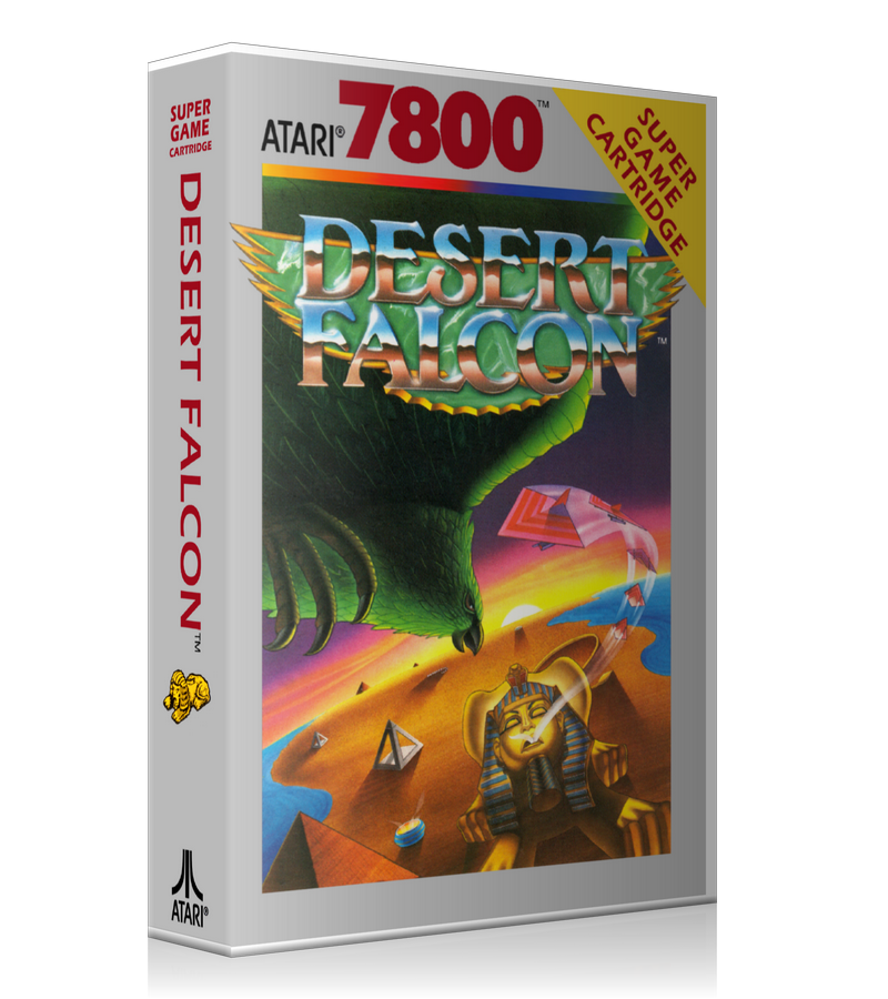 Atari 7800 Desert Falcon 2 Game Cover To Fit A UGC Style Replacement Game Case