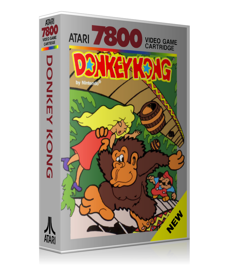 Atari 7800 Donkey Kong Game Cover To Fit A UGC Style Replacement Game Case