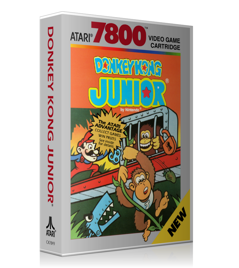 Atari 7800 Donkey Kong Junior Game Cover To Fit A UGC Style Replacement Game Case