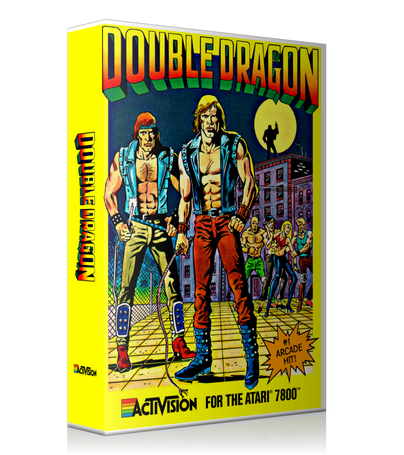 Atari 7800 Double Dragon Game Cover To Fit A UGC Style Replacement Game Case