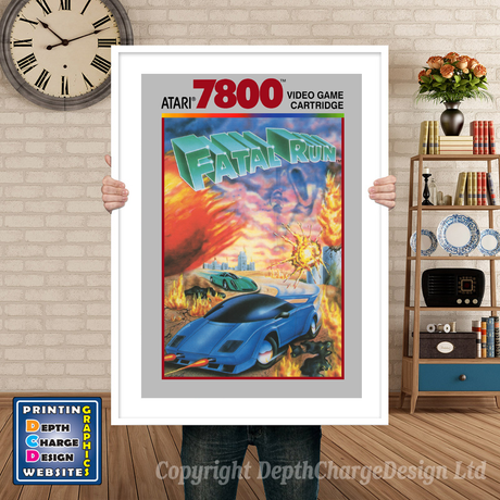 Fatal Run - Atari 7800 Inspired Retro Gaming Poster A4 A3 A2 Or A1