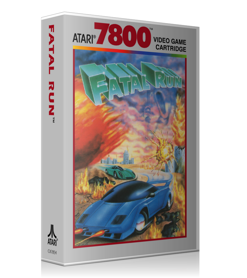Atari 7800 Fatal Run Game Cover To Fit A UGC Style Replacement Game Case