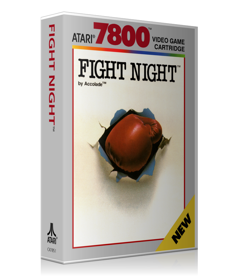 Atari 7800 Fight Night Game Cover To Fit A UGC Style Replacement Game Case