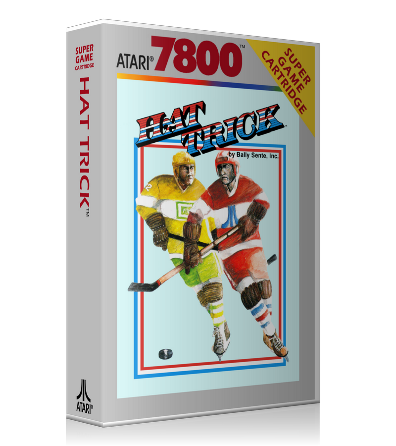 Atari 7800 Hat Trick Game Cover To Fit A UGC Style Replacement Game Case