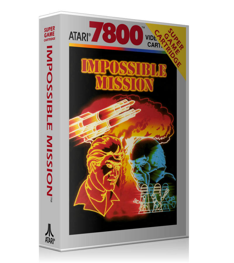 Atari 7800 Impossible Mission 2 Game Cover To Fit A UGC Style Replacement Game Case