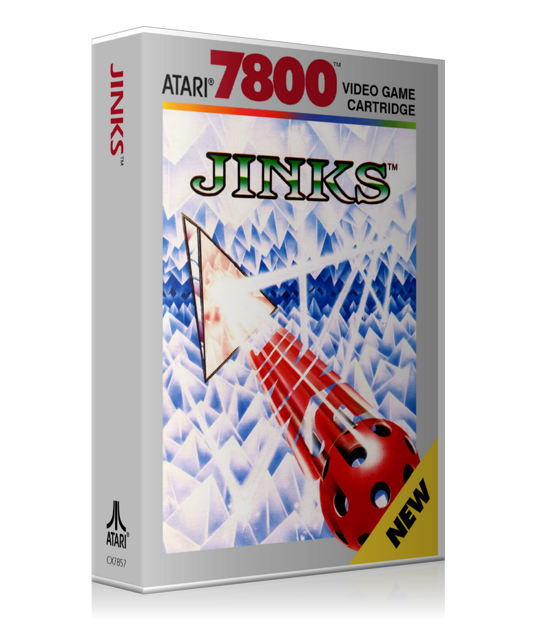 Atari 7800 Jinks 2 Game Cover To Fit A UGC Style Replacement Game Case