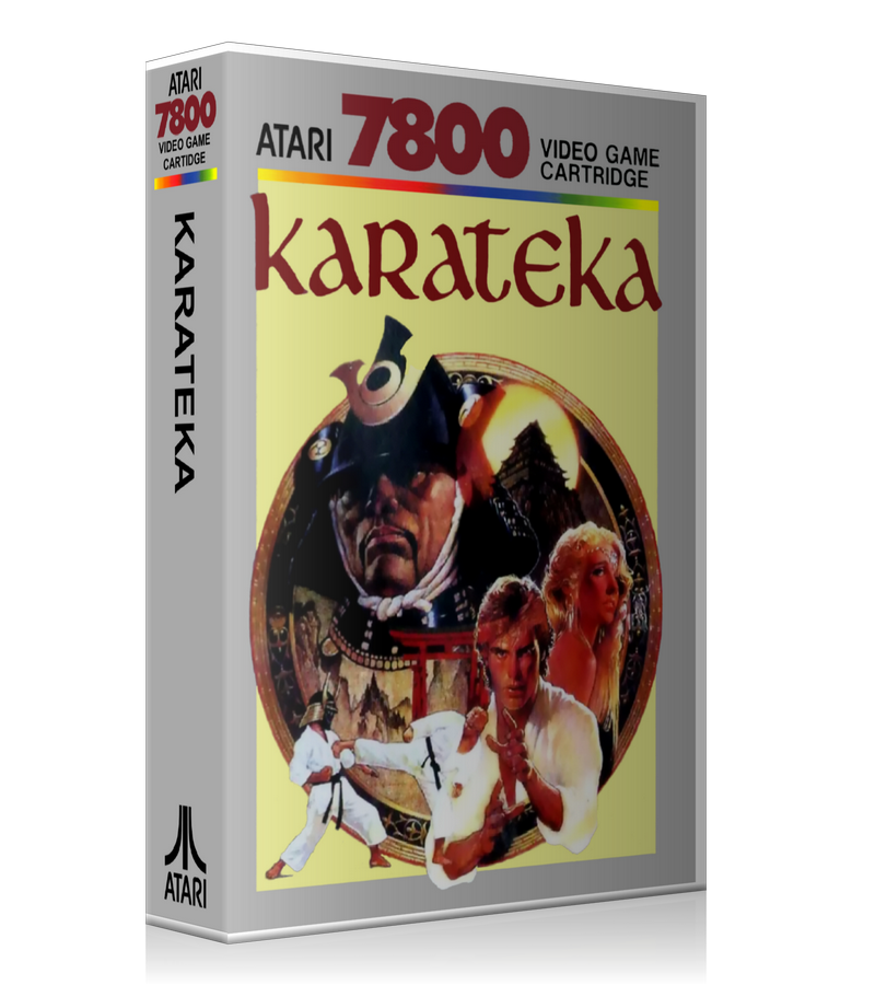 Atari 7800 Kara Teka Game Cover To Fit A UGC Style Replacement Game Case
