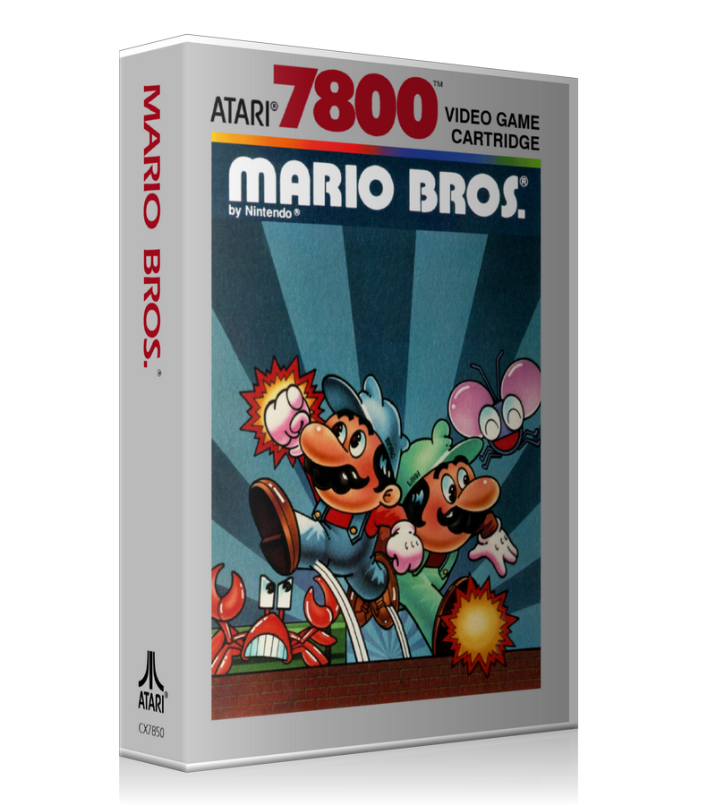 Atari 7800 Mario Bros Game Cover To Fit A UGC Style Replacement Game Case