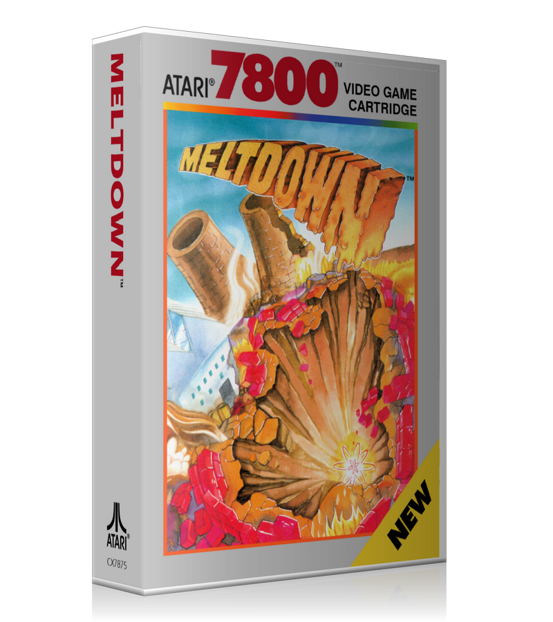 Atari 7800 Melt Down Game Cover To Fit A UGC Style Replacement Game Case