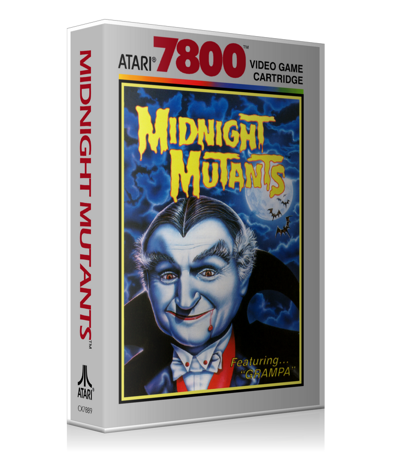 Atari 7800 Mid Night Mutants Game Cover To Fit A UGC Style Replacement Game Case