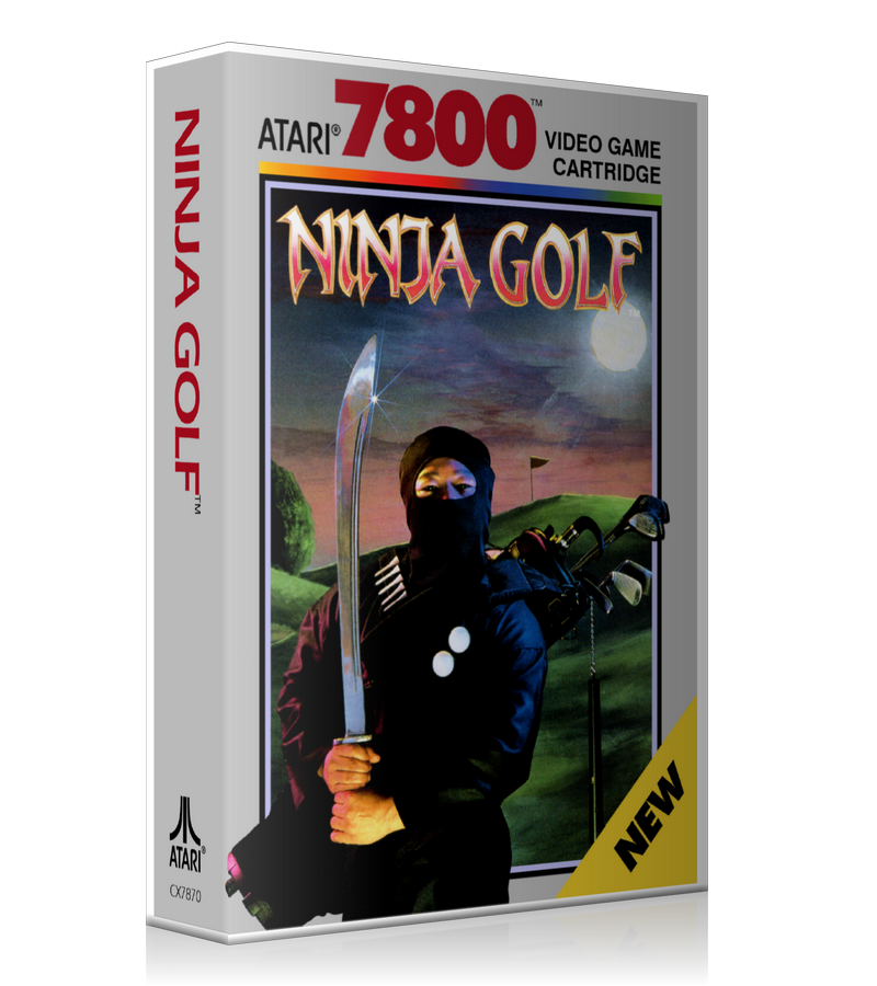 Atari 7800 Ninja Golf Game Cover To Fit A UGC Style Replacement Game Case