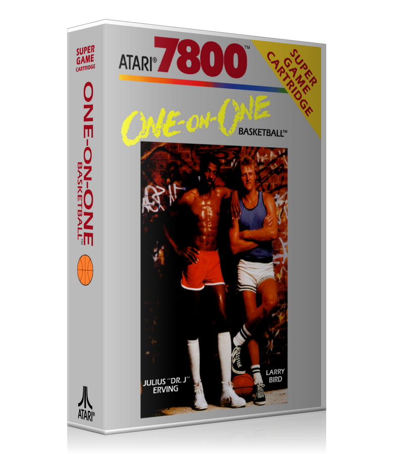 Atari 7800 One On One Basketball Game Cover To Fit A UGC Style Replacement Game Case
