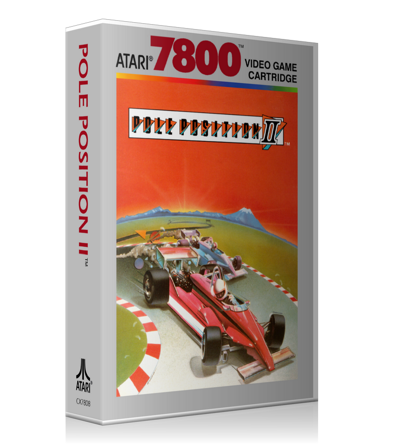 Atari 7800 Pole Position2 2 Game Cover To Fit A UGC Style Replacement Game Case