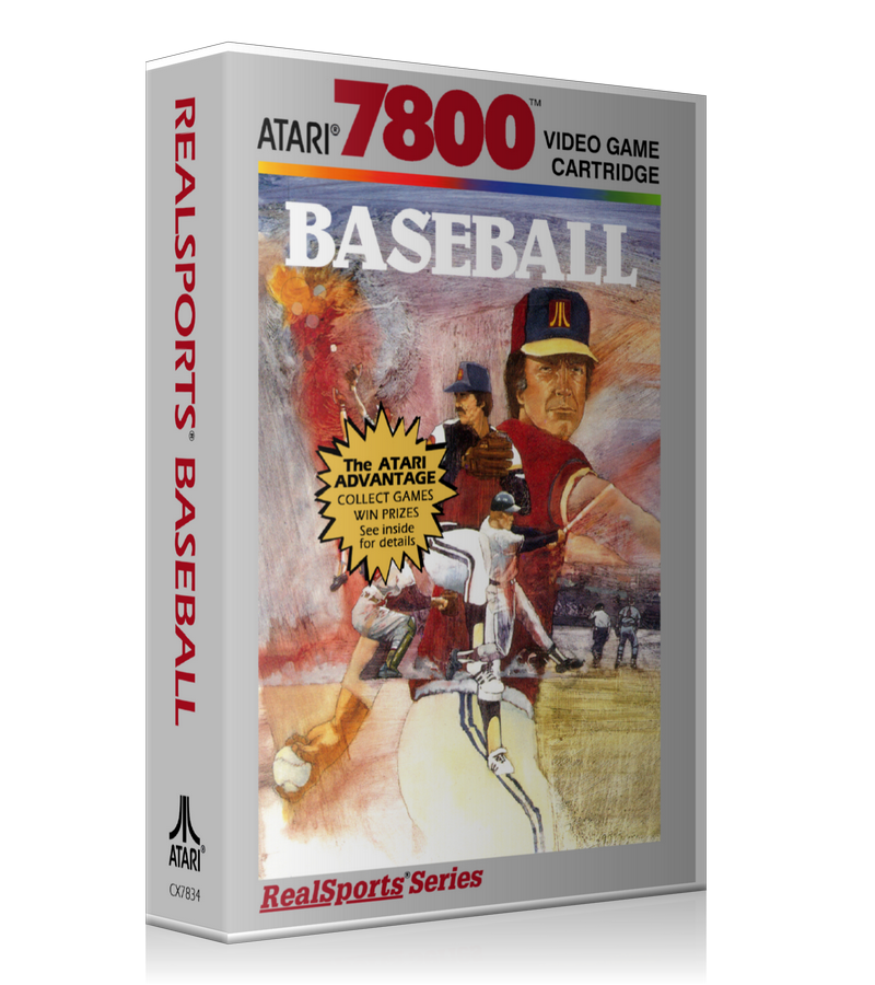 Atari 7800 Real Sports Baseball Game Cover To Fit A UGC Style Replacement Game Case