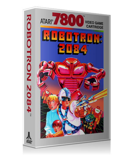 Atari 7800 Robotron2084 Game Cover To Fit A UGC Style Replacement Game Case