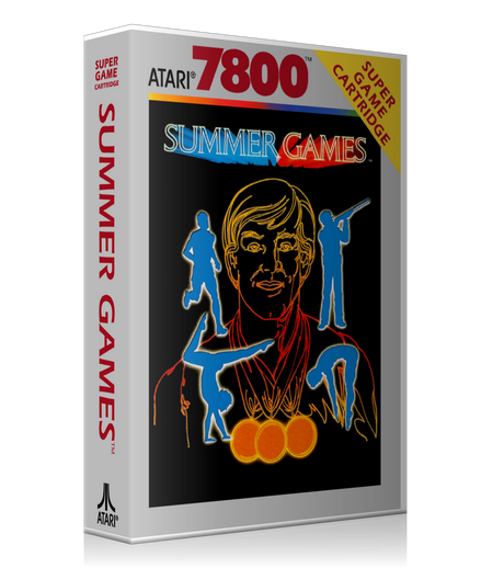 Atari 7800 Summer Games Game Cover To Fit A UGC Style Replacement Game Case