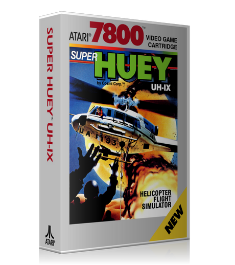 Atari 7800 Super Hueyuh 1X Game Cover To Fit A UGC Style Replacement Game Case