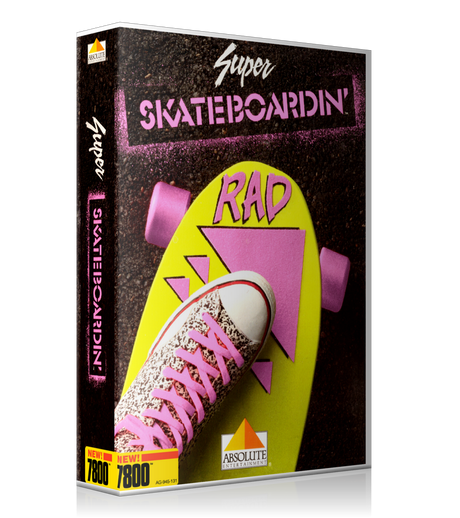 Atari 7800 Super Skate Boarding Game Cover To Fit A UGC Style Replacement Game Case