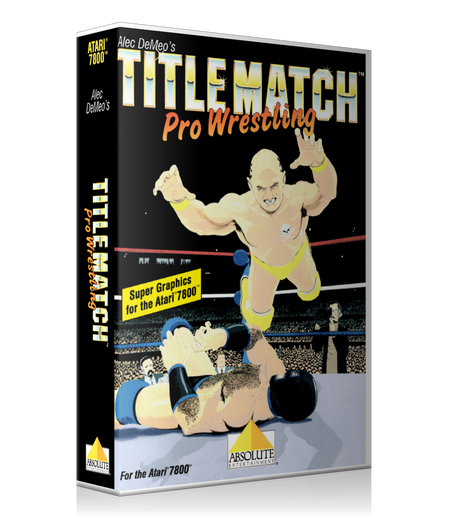 Atari 7800 Title Match Pro Wrestling Game Cover To Fit A UGC Style Replacement Game Case