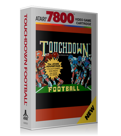 Atari 7800 Touchdown Football Game Cover To Fit A UGC Style Replacement Game Case