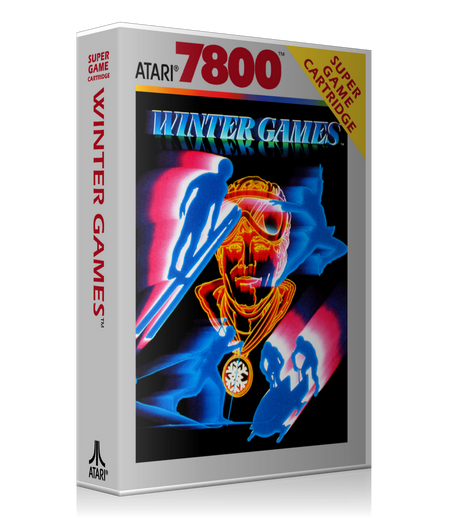Atari 7800 Winter Games Game Cover To Fit A UGC Style Replacement Game Case