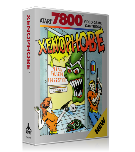 Atari 7800 Xenophobe Game Cover To Fit A UGC Style Replacement Game Case