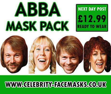 Abba Face Masks Pack Celebrity Face Mask FANCY DRESS HEN BIRTHDAY PARTY FUN STAG DO HEN