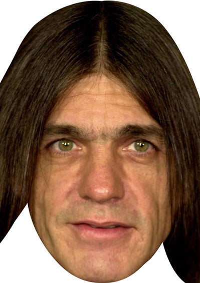 Acdc Malcolm Young Celebrity Face Mask FANCY DRESS HEN BIRTHDAY PARTY FUN STAG DO HEN
