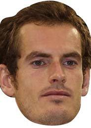 Andy Murray TENNIS Celebrity Face Mask FANCY DRESS HEN BIRTHDAY PARTY FUN STAG DO HEN