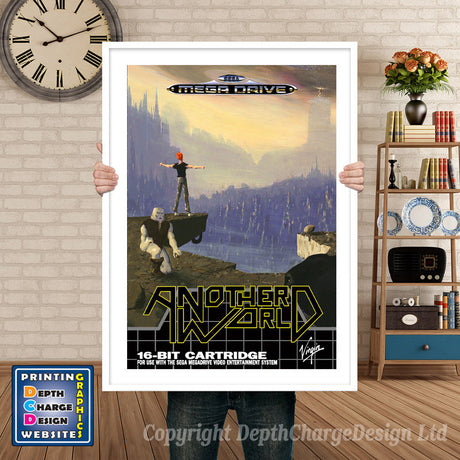 Another World 2 Eu - Sega Megadrive Inspired Retro Gaming Poster A4 A3 A2 Or A1