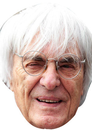 Bernie Ecclestone FORMULA 1 Celebrity Face Mask FANCY DRESS HEN BIRTHDAY PARTY FUN STAG DO HEN