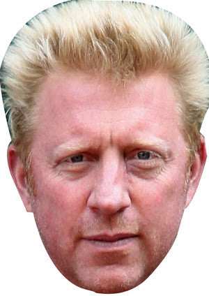Boris Becker  TENNIS Celebrity Face Mask FANCY DRESS HEN BIRTHDAY PARTY FUN STAG DO HEN