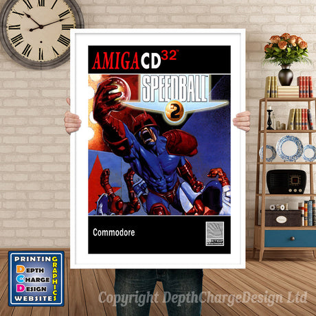 Cd32_Speedball2_Gb Atari Inspired Retro Gaming Poster A4 A3 A2 Or A1