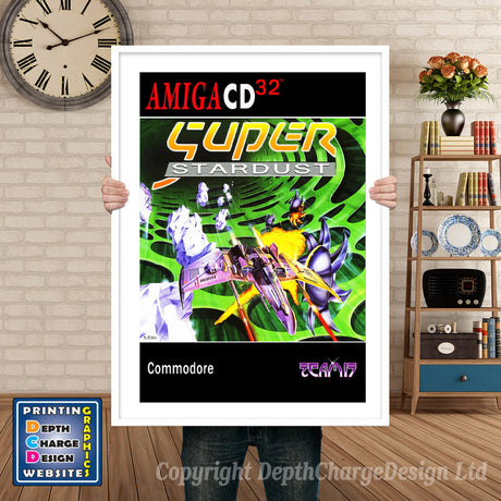 Cd32_Superstardust_Gb Atari Inspired Retro Gaming Poster A4 A3 A2 Or A1