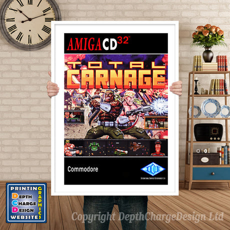 Cd32_Totalcarnage_None Atari Inspired Retro Gaming Poster A4 A3 A2 Or A1
