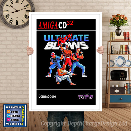 Cd32_Ultimatebodyblows_Eu Atari Inspired Retro Gaming Poster A4 A3 A2 Or A1