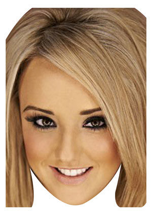 Charlotte Blonde Geordie Shore Celebrity Face Mask FANCY DRESS HEN BIRTHDAY PARTY FUN STAG DO HEN