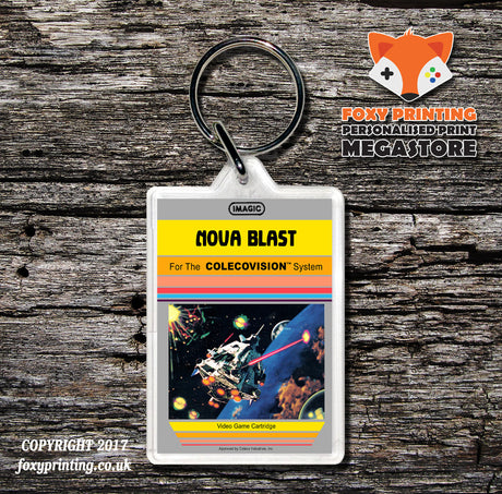 Coleco Nova Blast None - Game Inspired Retro Gaming Keyring