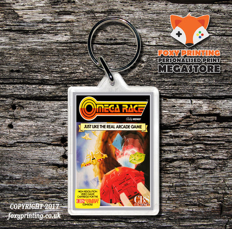 Coleco Omega Race Gb - Game Inspired Retro Gaming Keyring