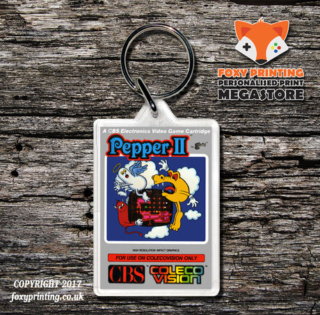 Coleco Pepper2 Au - Game Inspired Retro Gaming Keyring