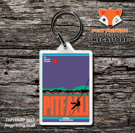 Coleco Pitfall - Game Inspired Retro Gaming Keyring