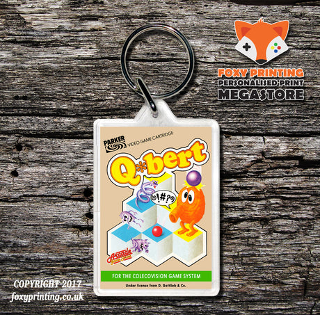 Coleco Qbert - Game Inspired Retro Gaming Keyring