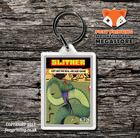 Coleco Slither Gb - Game Inspired Retro Gaming Keyring