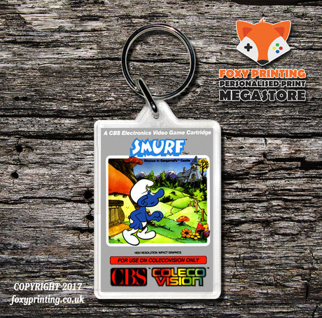 Coleco Smurf Au - Game Inspired Retro Gaming Keyring