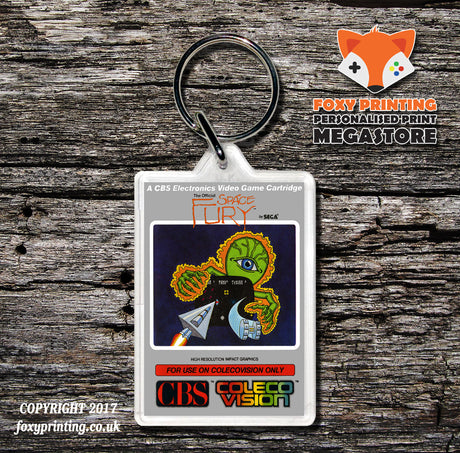 Coleco Space Fury Au - Game Inspired Retro Gaming Keyring