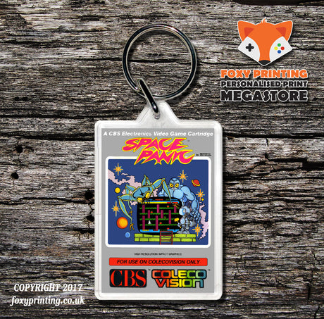 Coleco Space Panic Au - Game Inspired Retro Gaming Keyring