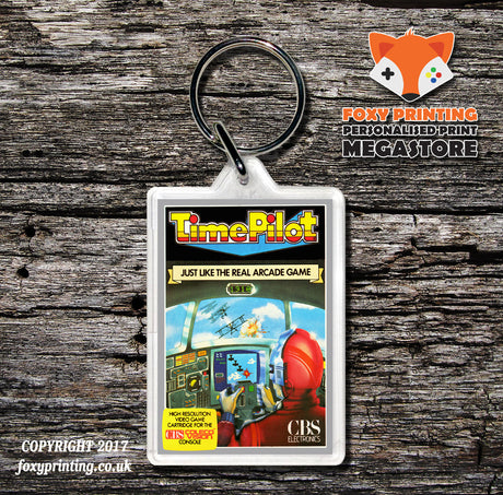 Coleco Time Pilot Gb - Game Inspired Retro Gaming Keyring