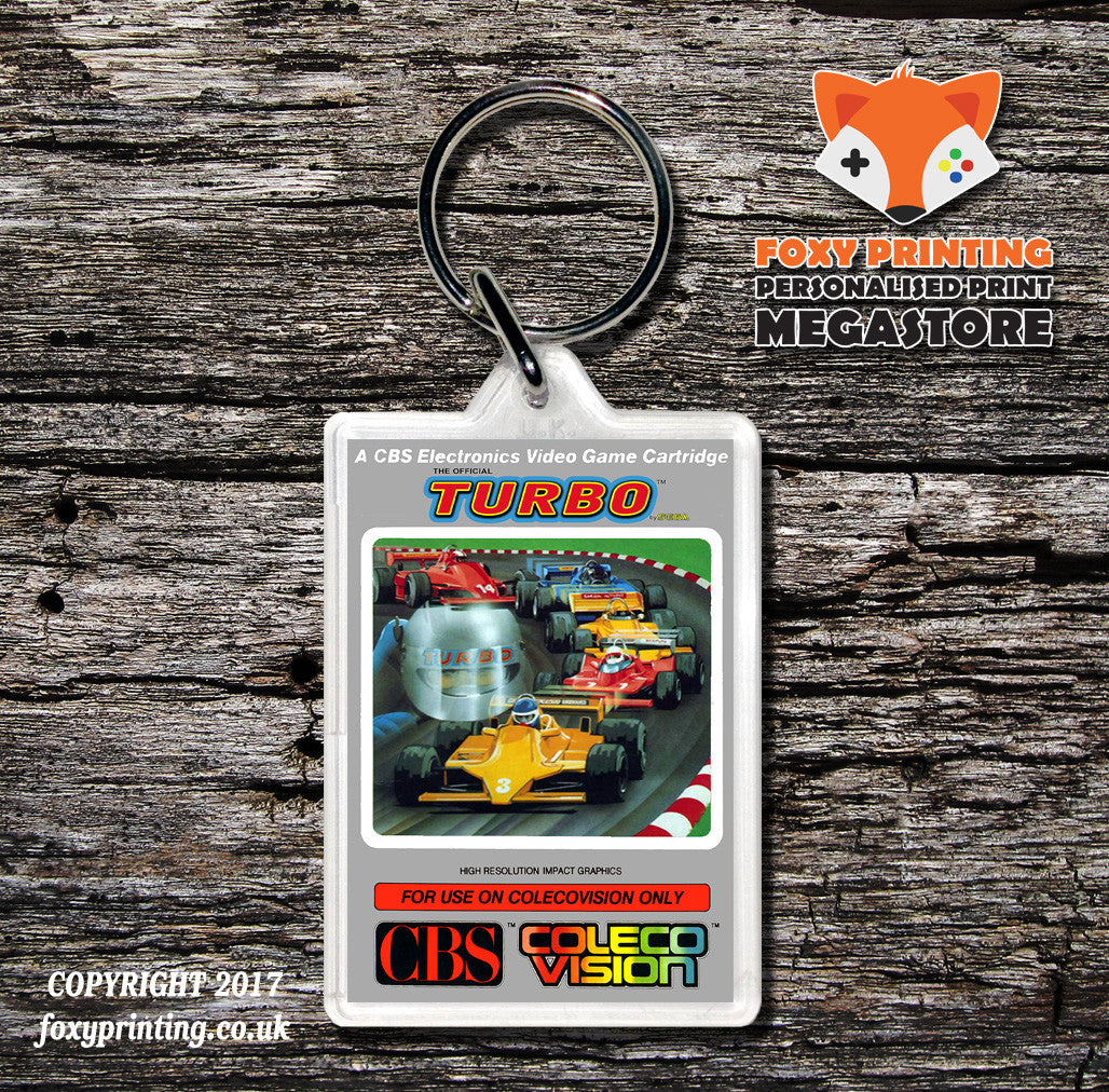 Coleco Turbo None - Game Inspired Retro Gaming Keyring